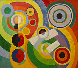 Rythme, Joie de Vivre by Robert Delaunay This artist had several ideas that Varese admired, especially a complete newness in his work, process, the lack of obvious representation.